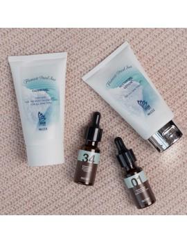 В программу ухода включены средства, необходимые для подготовки кожи к воздействию флуревитов. Программа универсальная, подходит как мужчинам, так и женщинам.